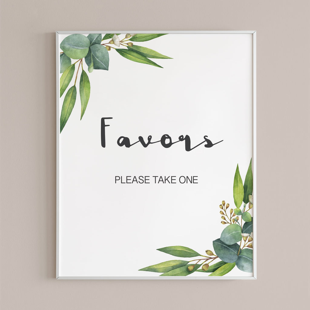 Garden baby shower favors table sign download PDF by LittleSizzle