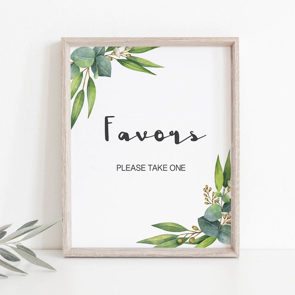 Download favors signs for garden themed shower by LittleSizzle