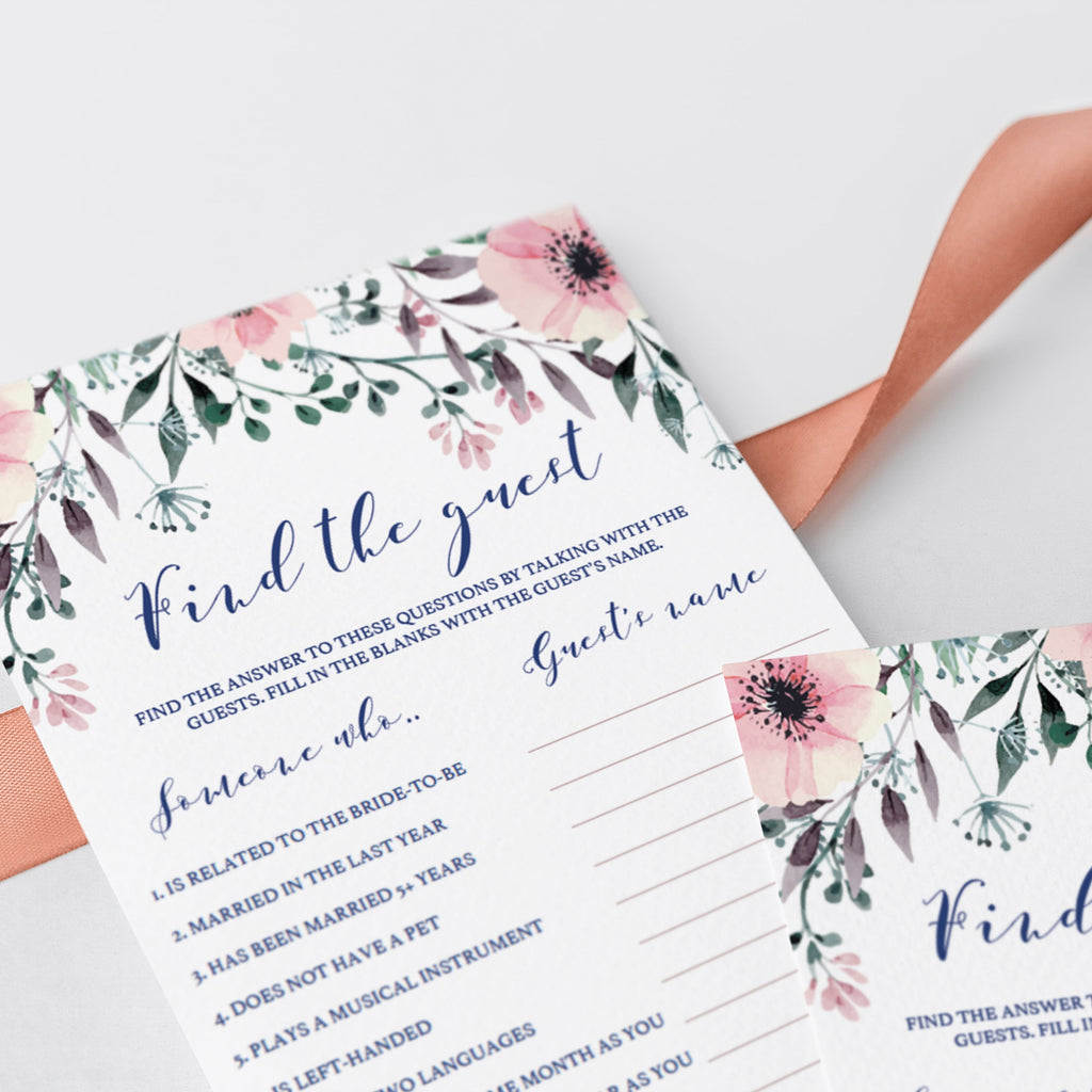 Find the Guest Bridal Shower Games Printable