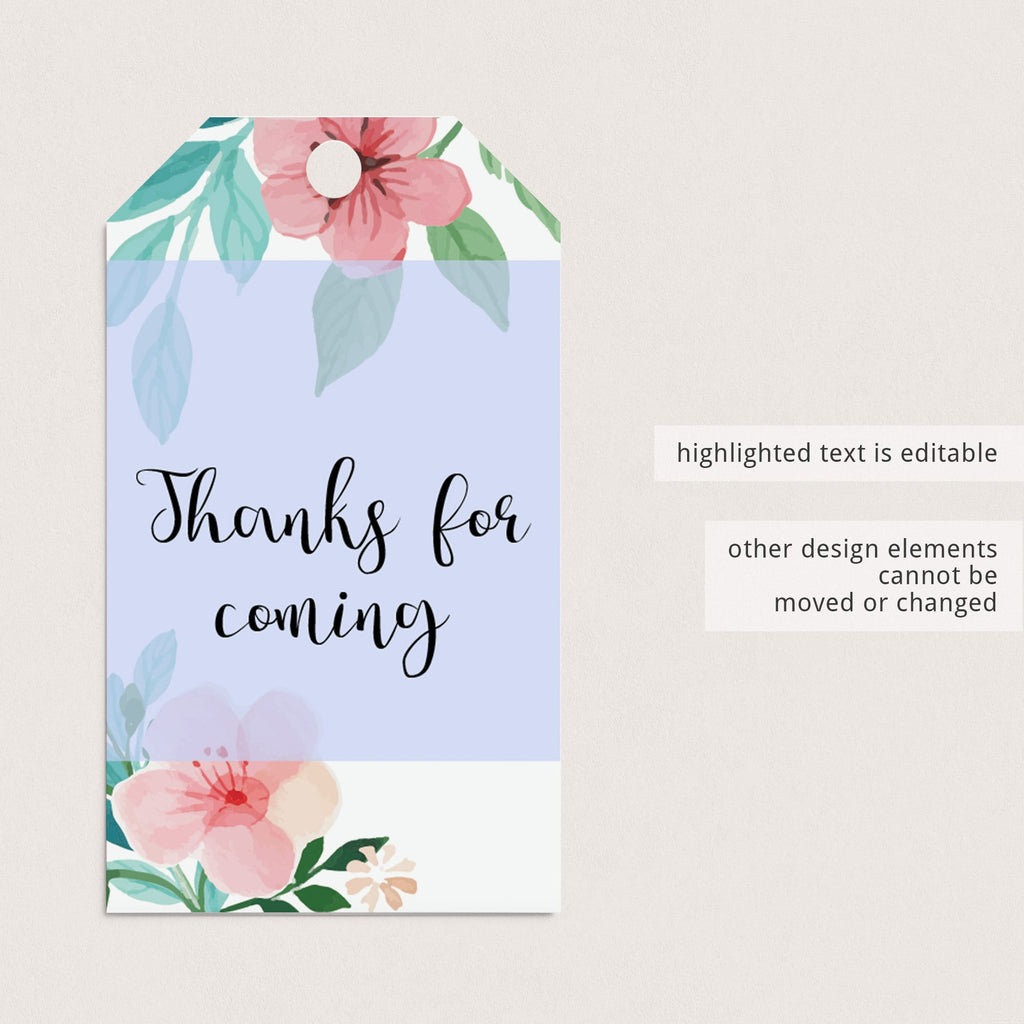 Editable thank you favor tags for baby shower by LittleSizzle