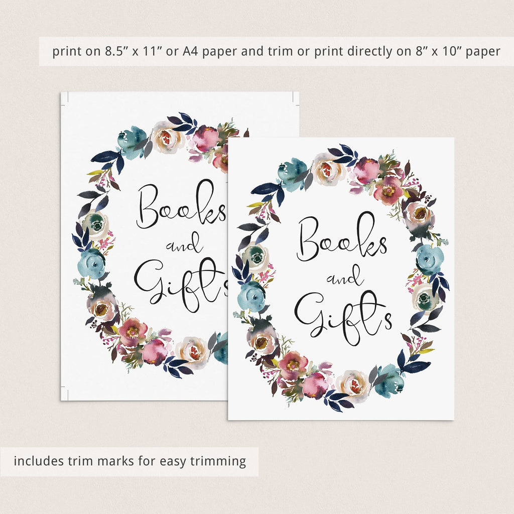Instant download baby shower table signs floral theme by LittleSizzle