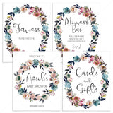 Floral wreath baby shower decorations printables by LittleSizzle