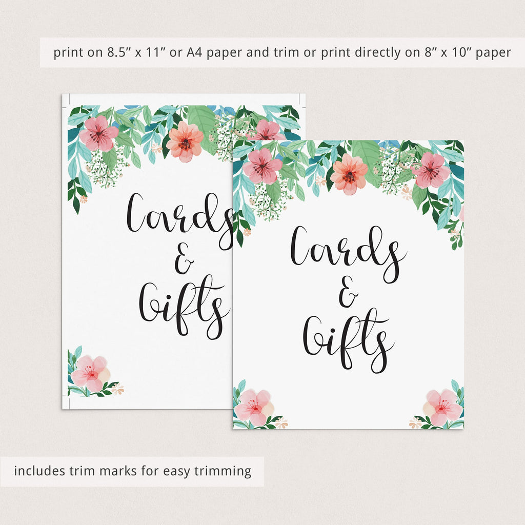 Printable floral party decor signs by LittleSizzle
