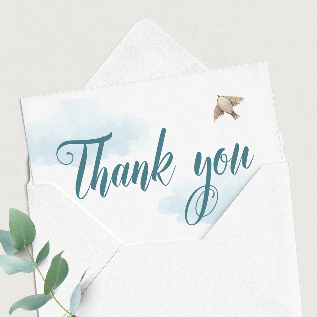 Printable up and away thank you cards by LittleSizzle