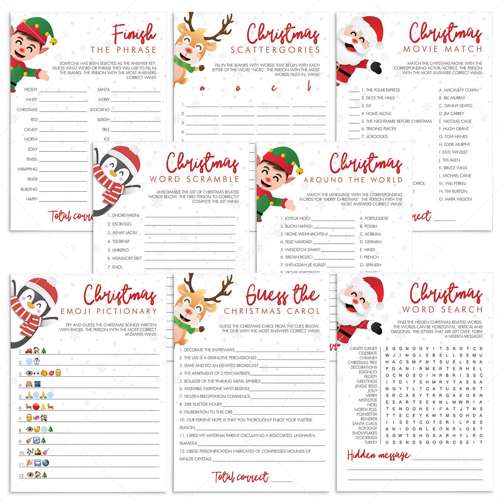 Fun Holiday Party Games Pack Download by LittleSizzle