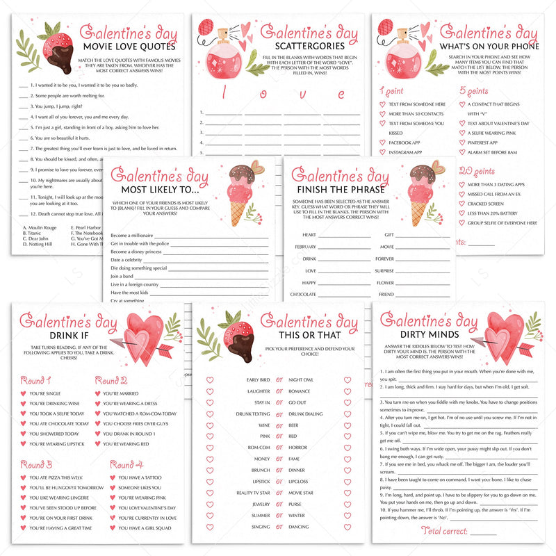 Galentine S Day Games To Play Online Or Print At Home Download Littlesizzle