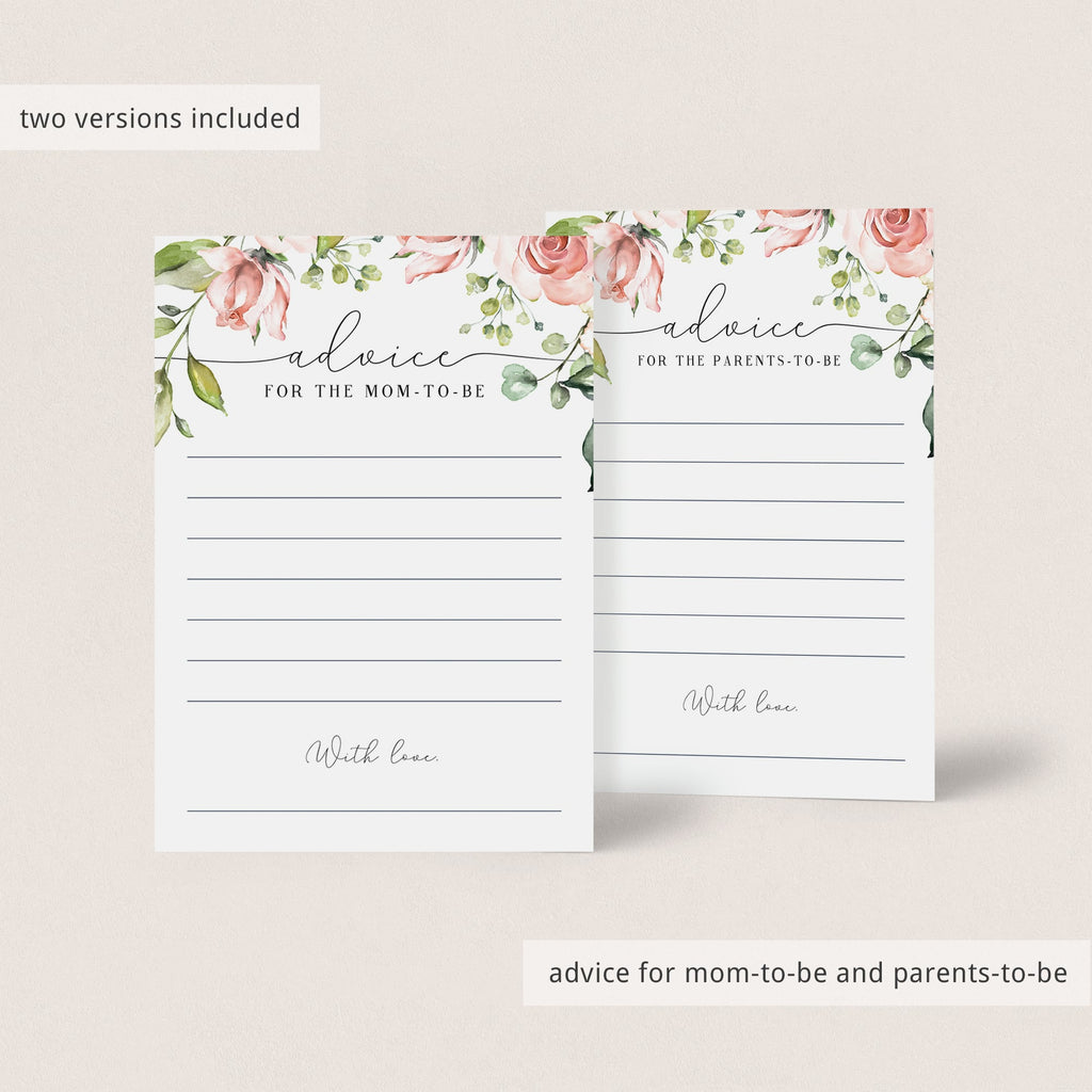 Instant Download Baby Shower Game Package Blush Floral