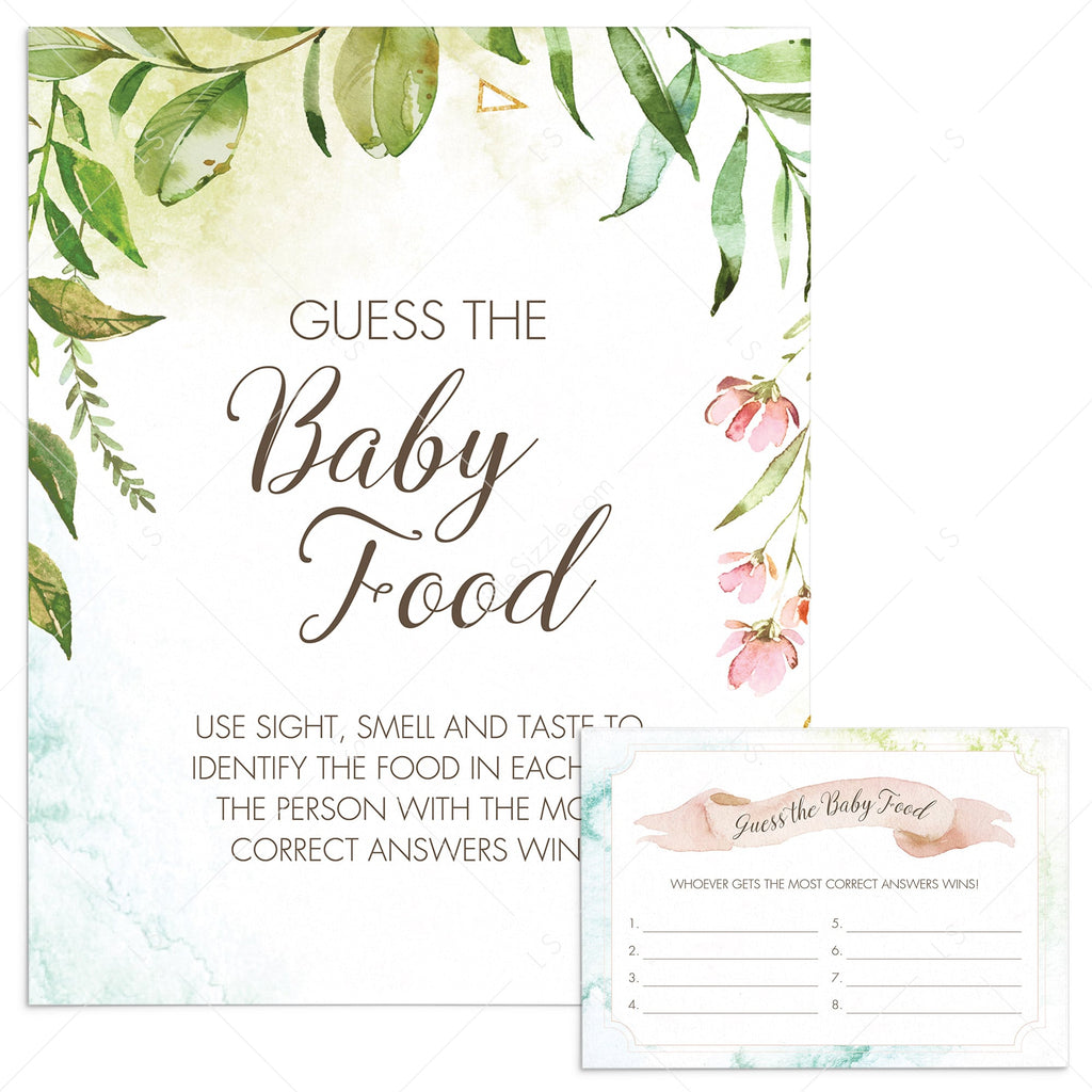 Garden baby shower activity printable by LittleSizzle