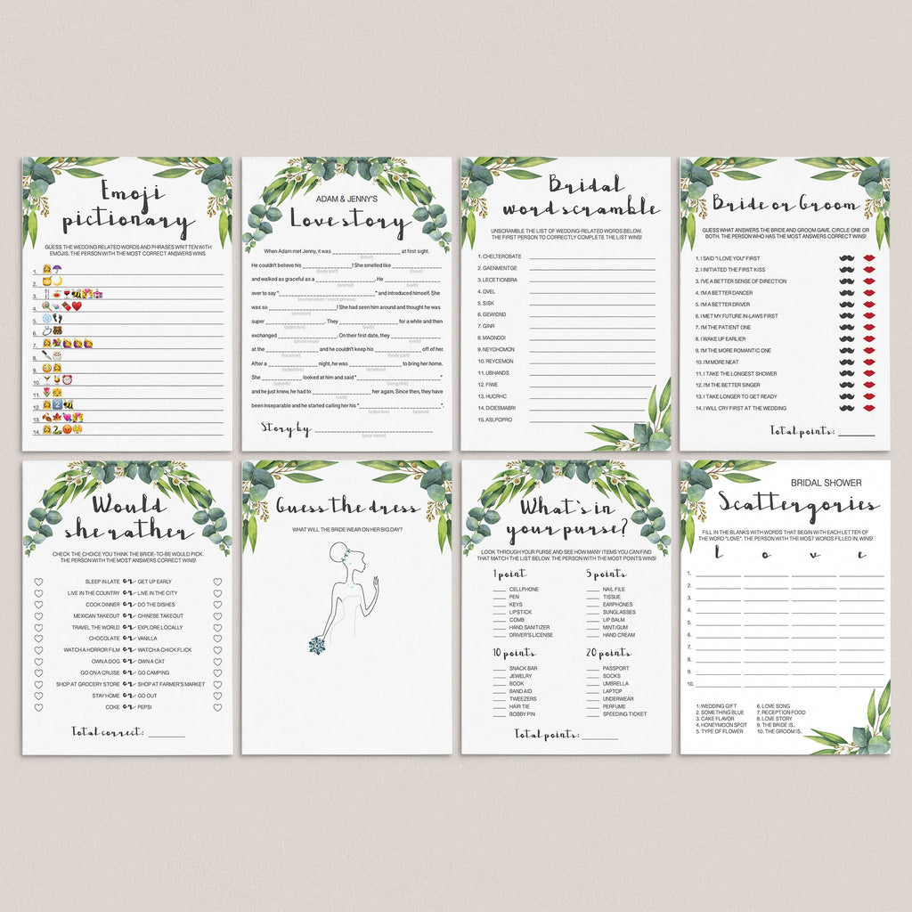 garden bridal shower activities ideas pack by LittleSizzle