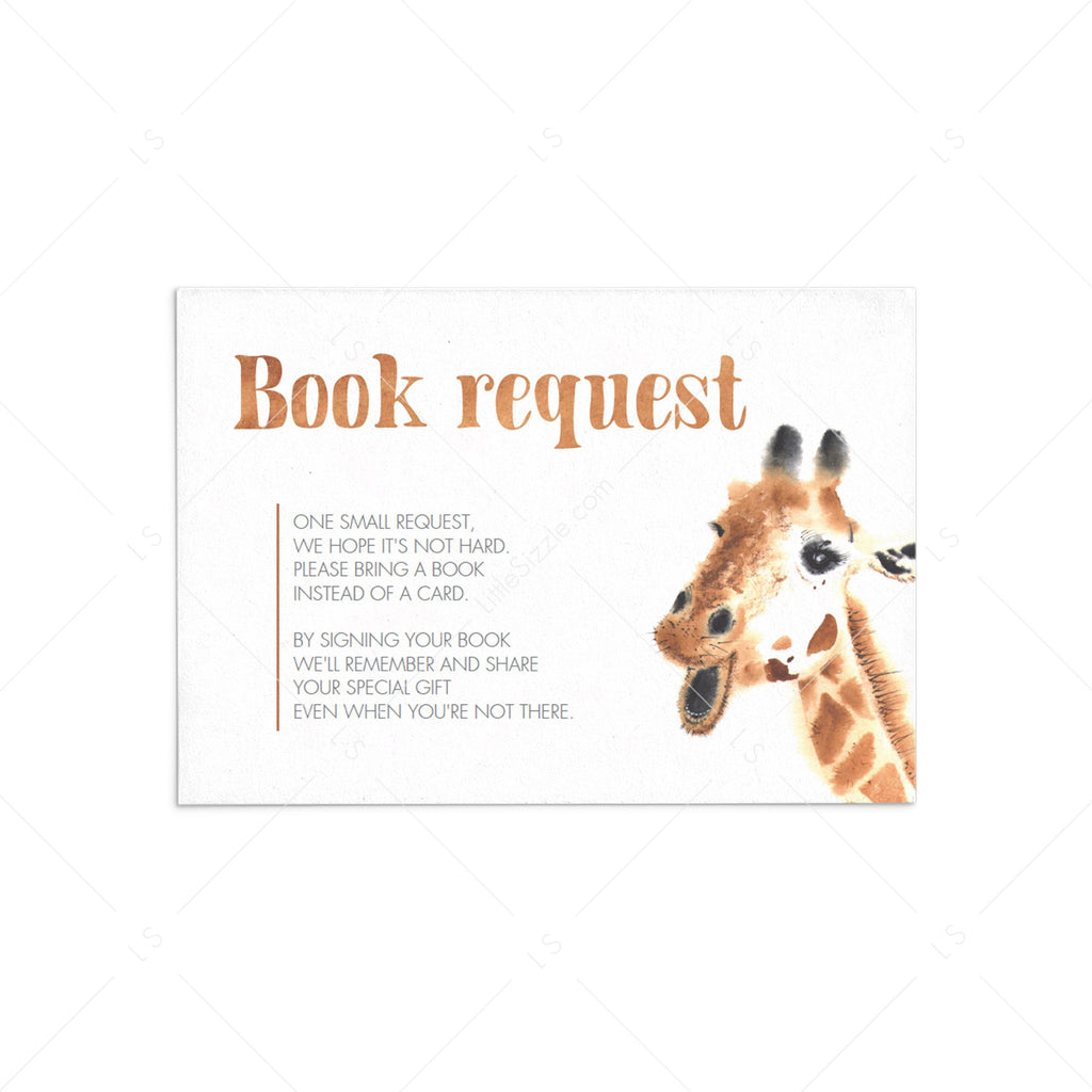 Giraffe Baby Shower Invitation Insert Template by LittleSizzle