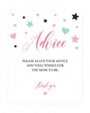 Sweet baby shower advice sign printable by LittleSizzle