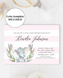 Girl baby shower evite download by LittleSizzle