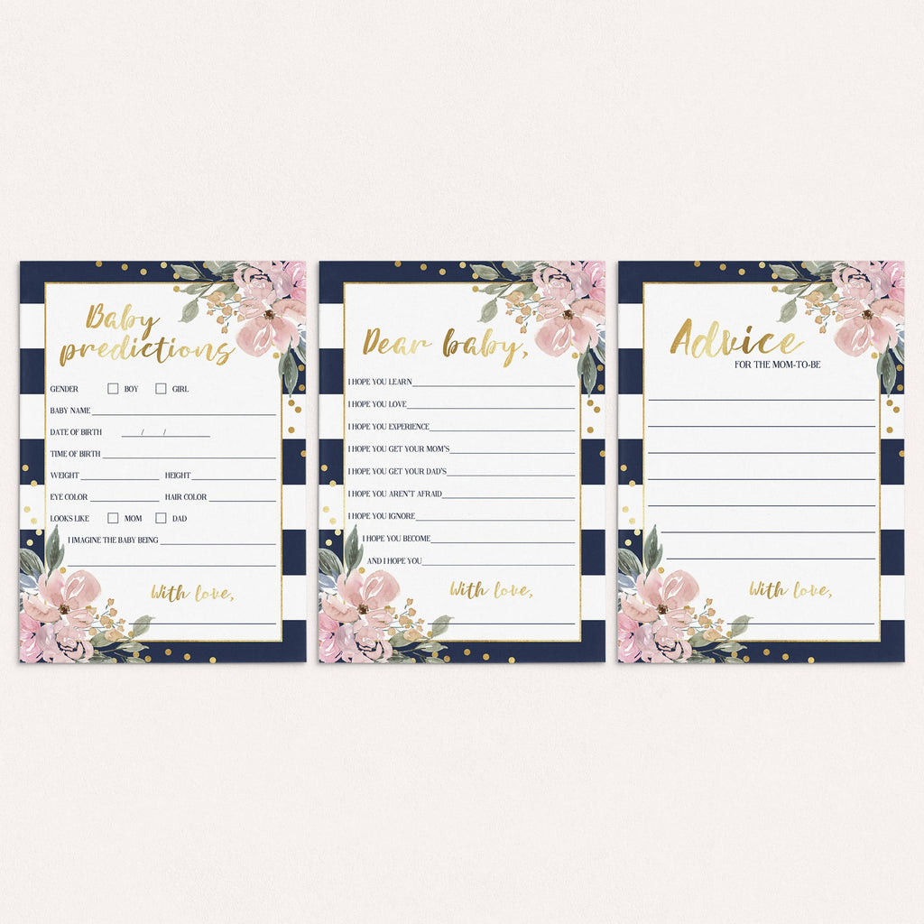 Download navy pink and gold baby shower games by LittleSizzle