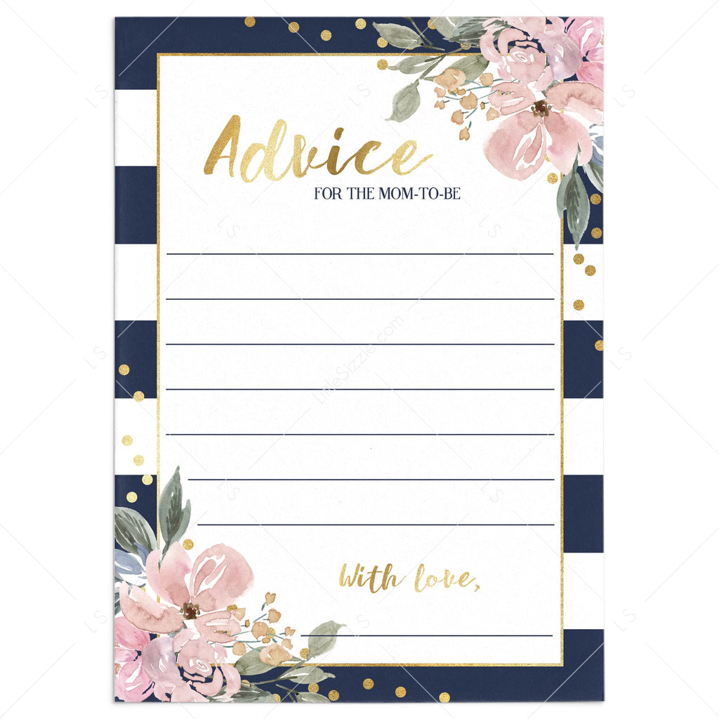 Navy, pink and gold baby shower games by LittleSizzle