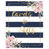 Stripes and floral cards and gifts sign printable by LittleSizzle