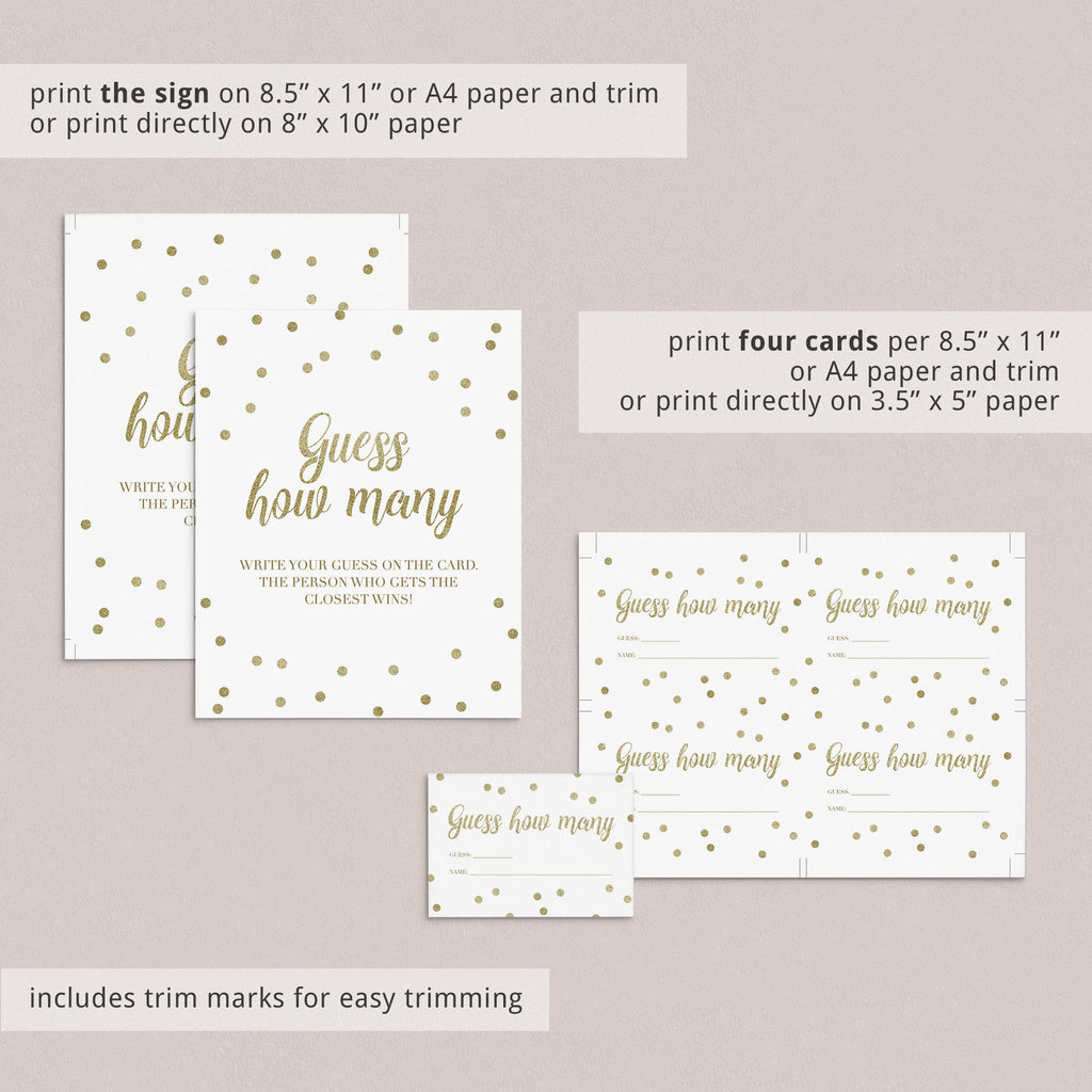 Printable guess how many baby shower game instructions by LittleSizzle