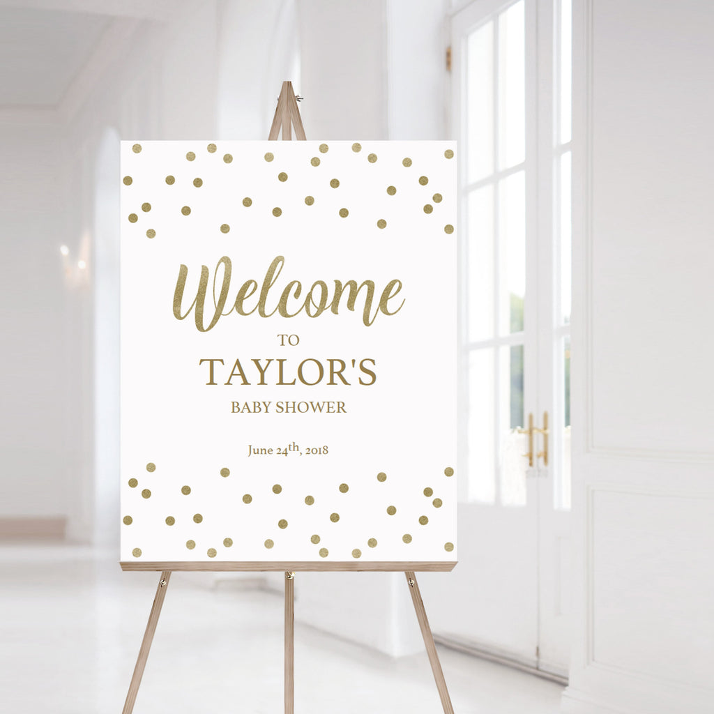 Gold glitter welcome sign printable by LittleSizzle