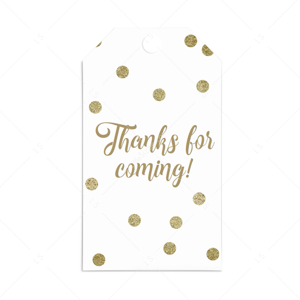 Gold party favor tags printable by LittleSizzle