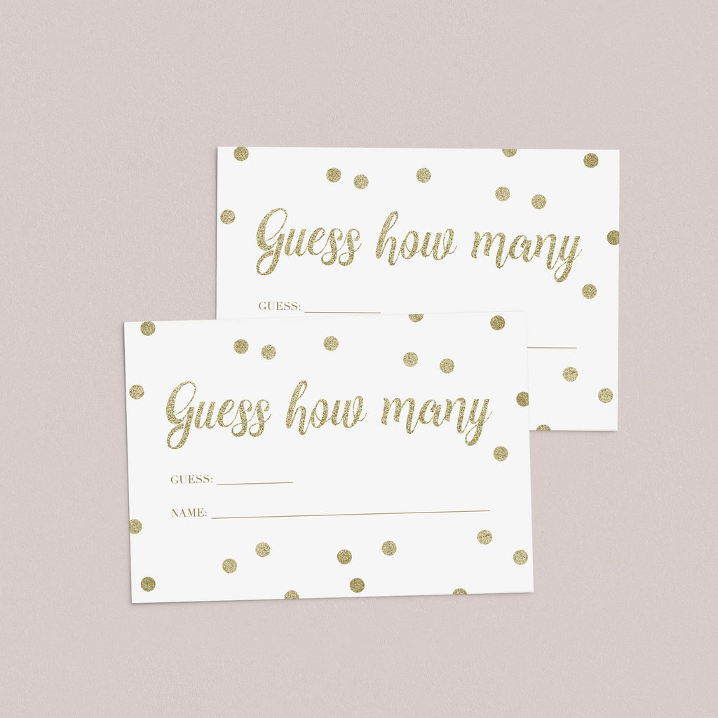 DIY baby shower guessing game cards gender neutral by LittleSizzle