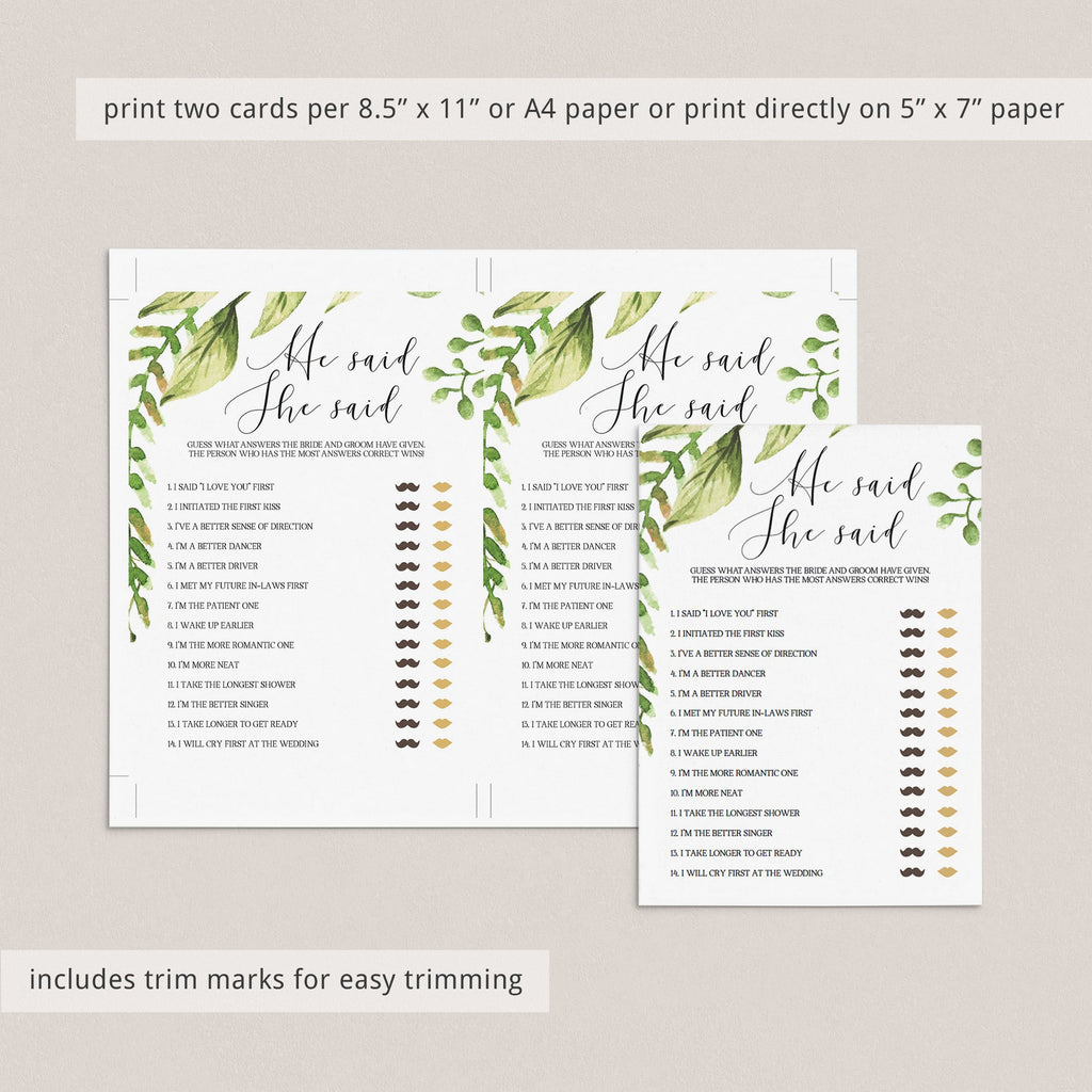 editable bride or groom game bridal shower printables