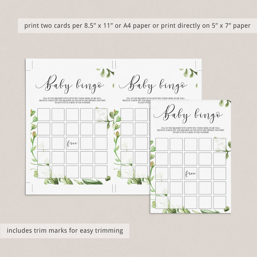 30 prefilled babybingo game cards for gender neutral baby shower party by LittleSizzle