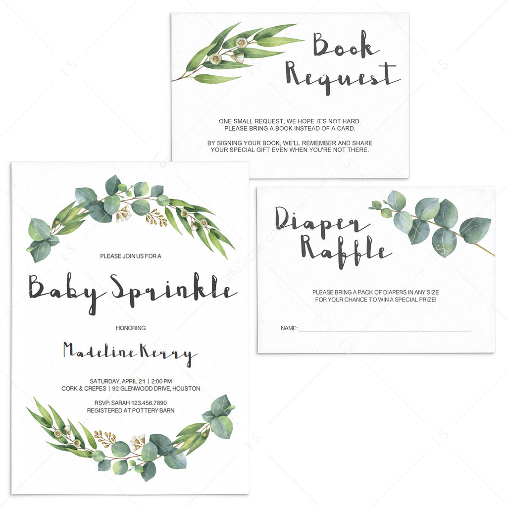 Garden baby sprinkle invitation set by LittleSizzle