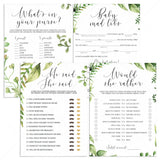 Botanical baby shower games printable package by LittleSizzle