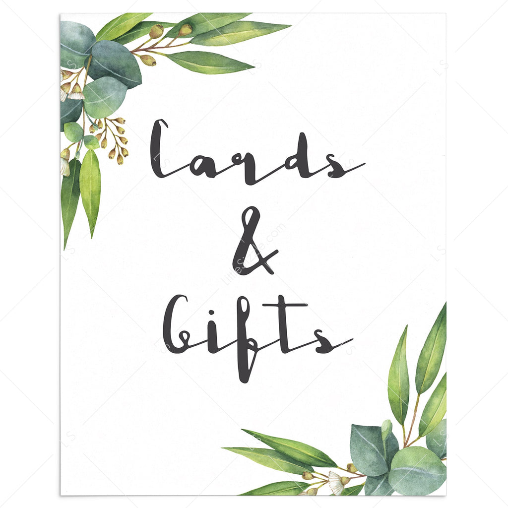 Cards & Gifts table sign printable by LittleSizzle