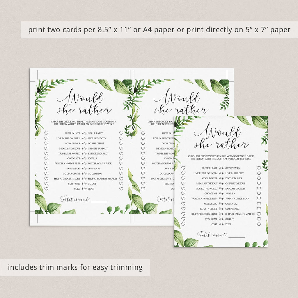 Botanical baby shower party printables by LittleSizzle