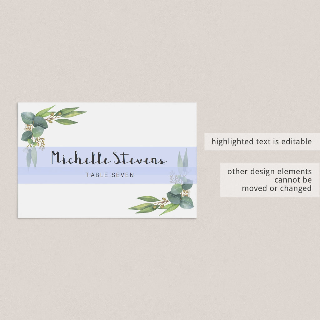 greenery party place cards for big events
