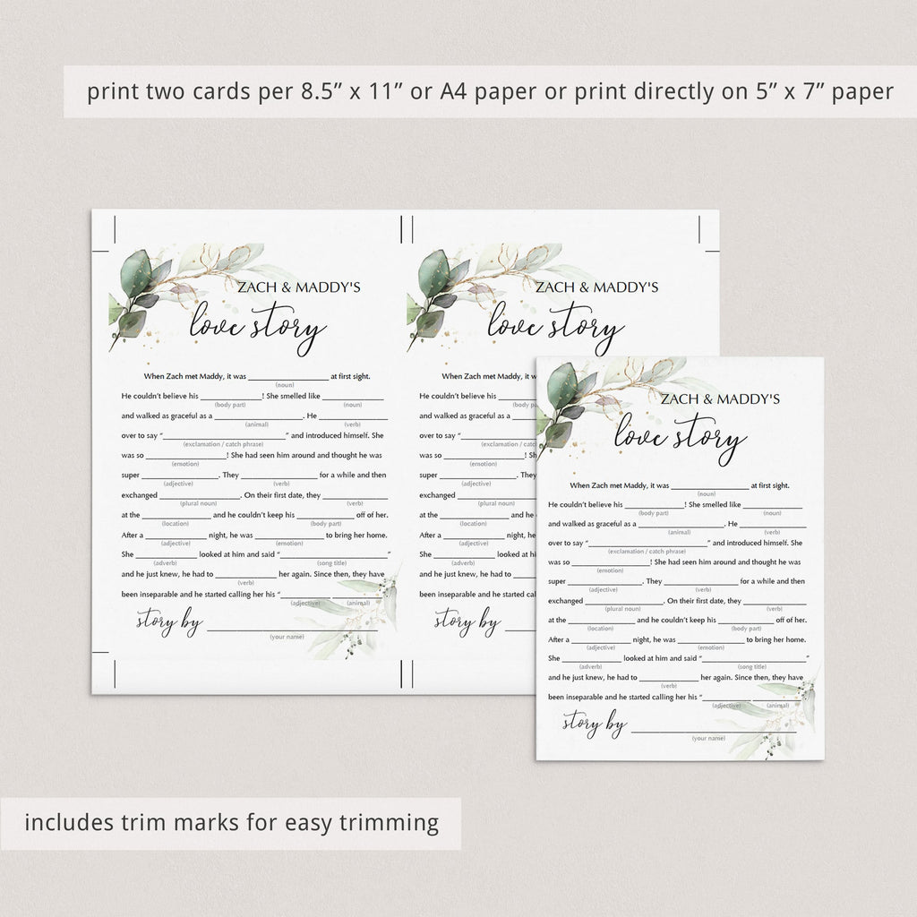 editable mad libs template for wedding activities