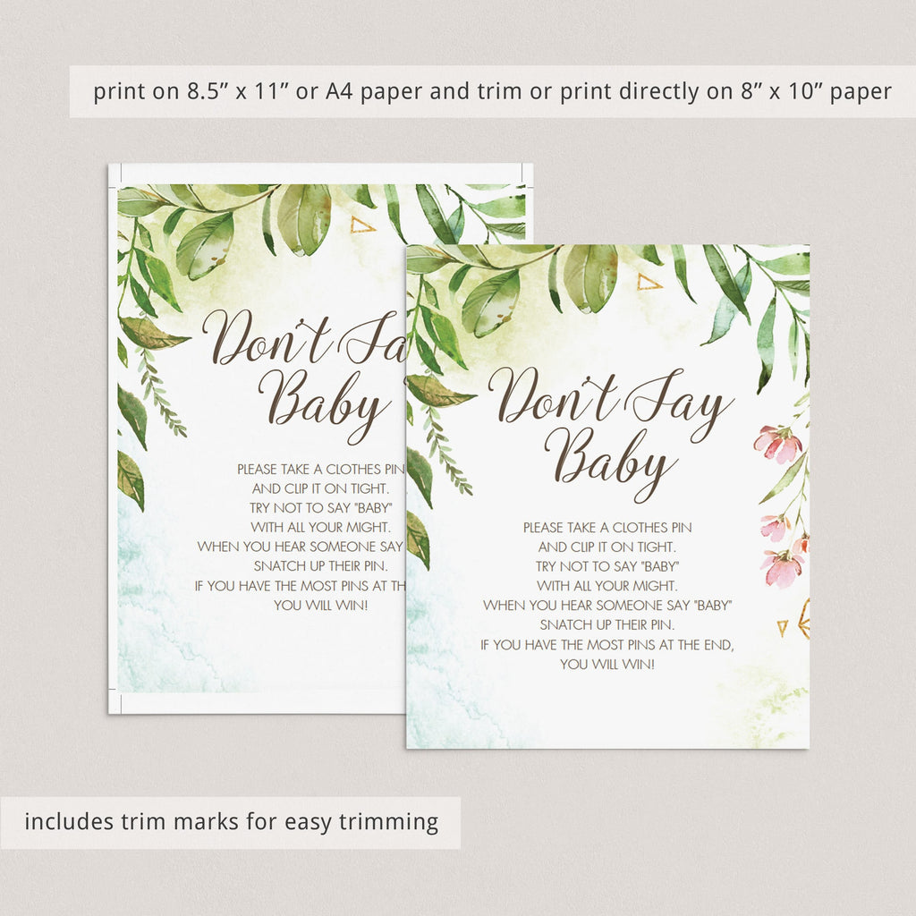 Printable DIY baby shower activities by LittleSizzle