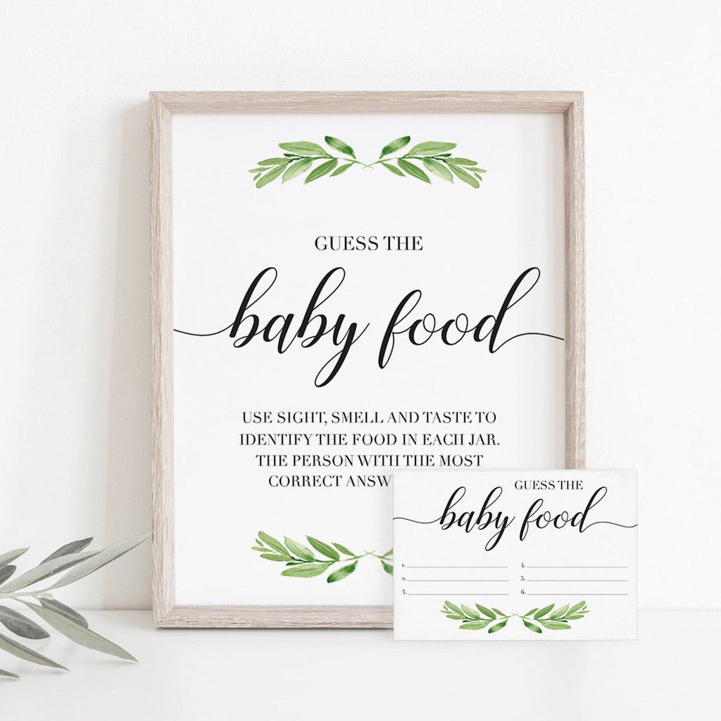 Guessing how many printable cards green leaf by LittleSizzle