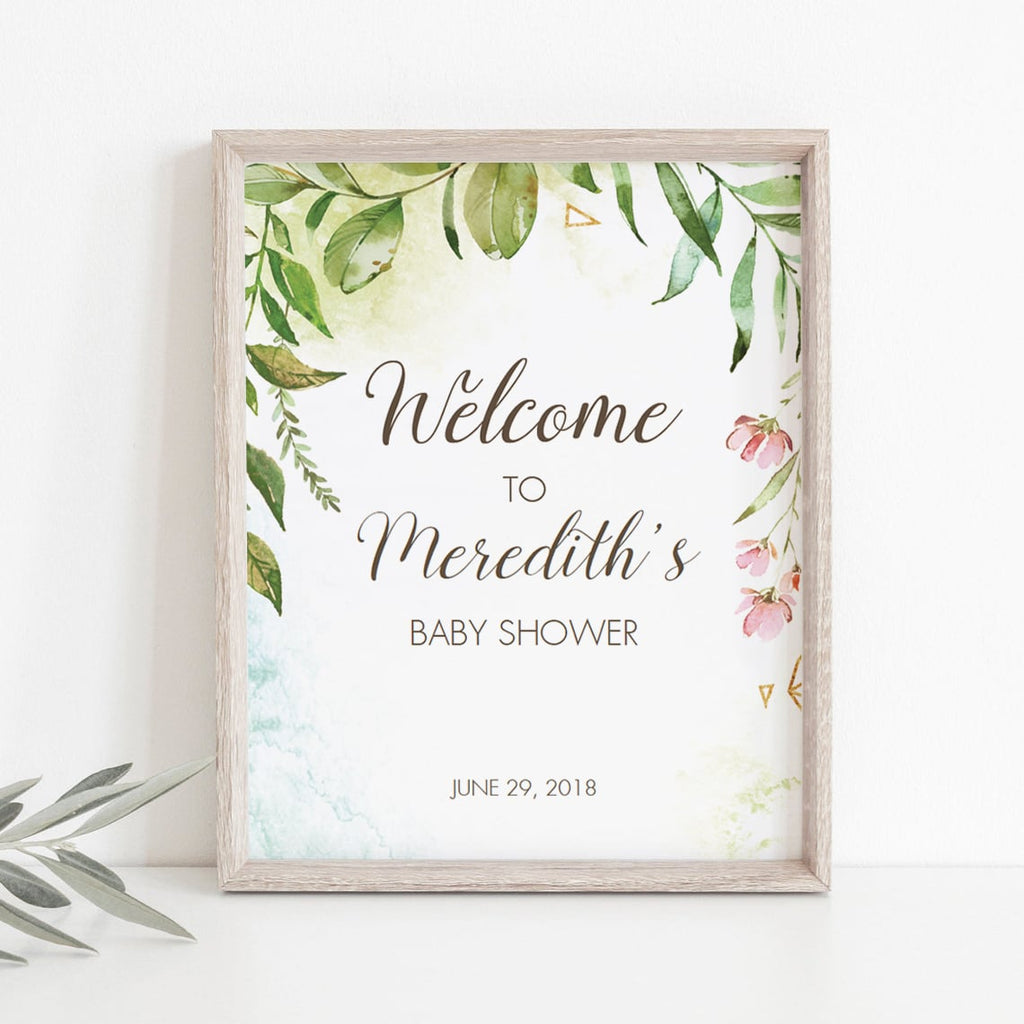 Welcome to spring baby shower sign template by LittleSizzle