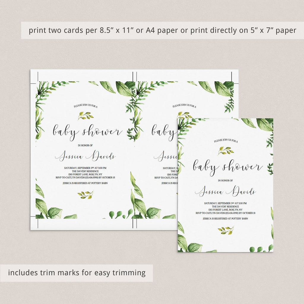 Babyshower invitation templates for gender neutral party by LittleSizzle