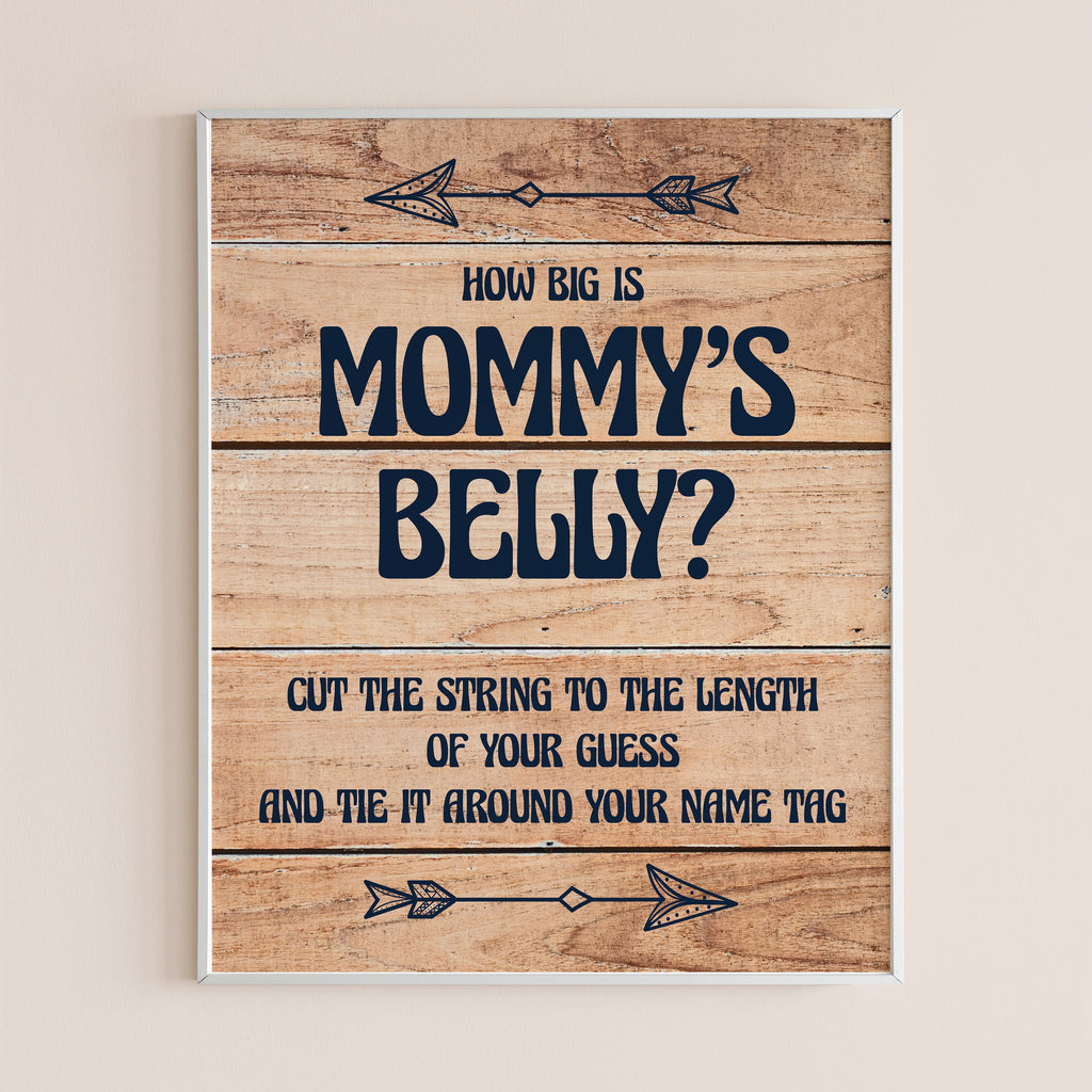 Guess the size of mommy's belly game for baby shower party printable by LittleSizzle