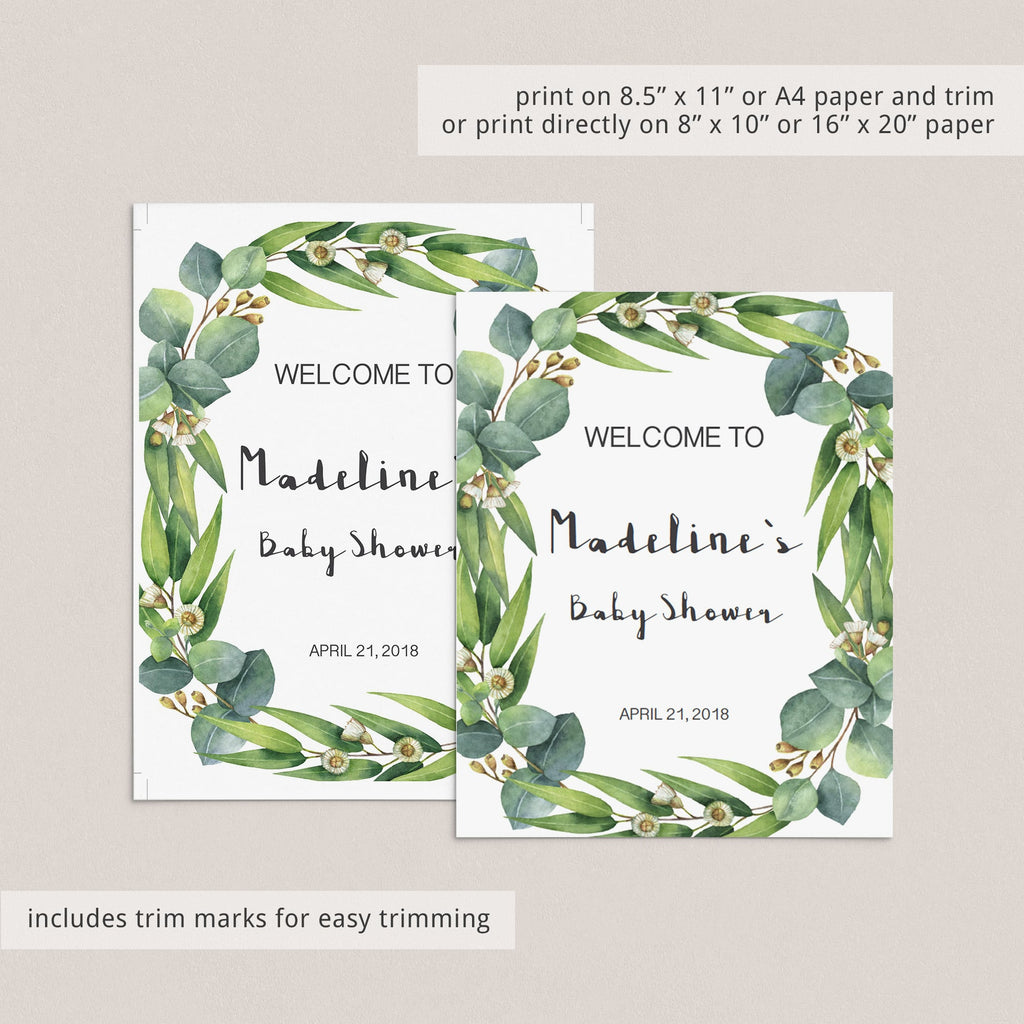 Greenery baby shower mimosa table sign by LittleSizzle