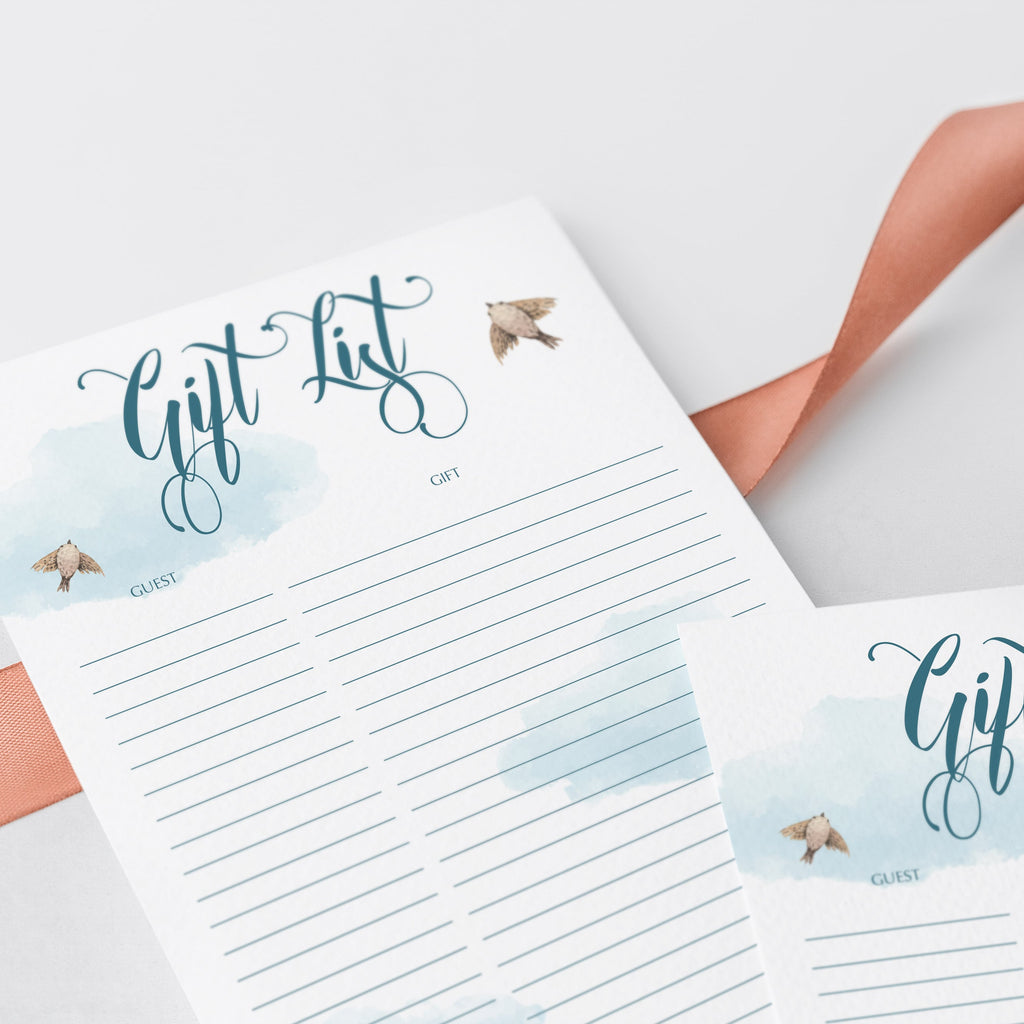 Instant download gift list for airplane party by LittleSizzle