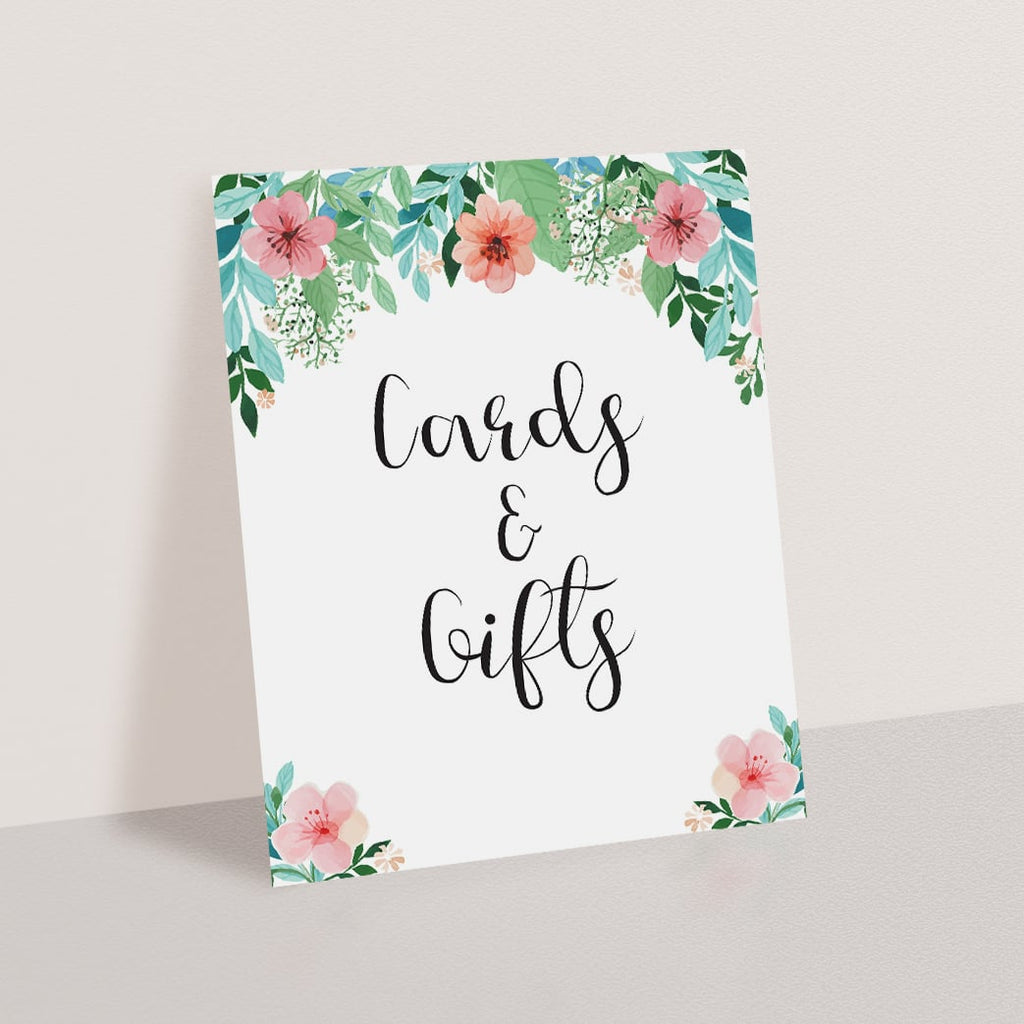 Gifts sign printable for floral themed shower by LittleSizzle