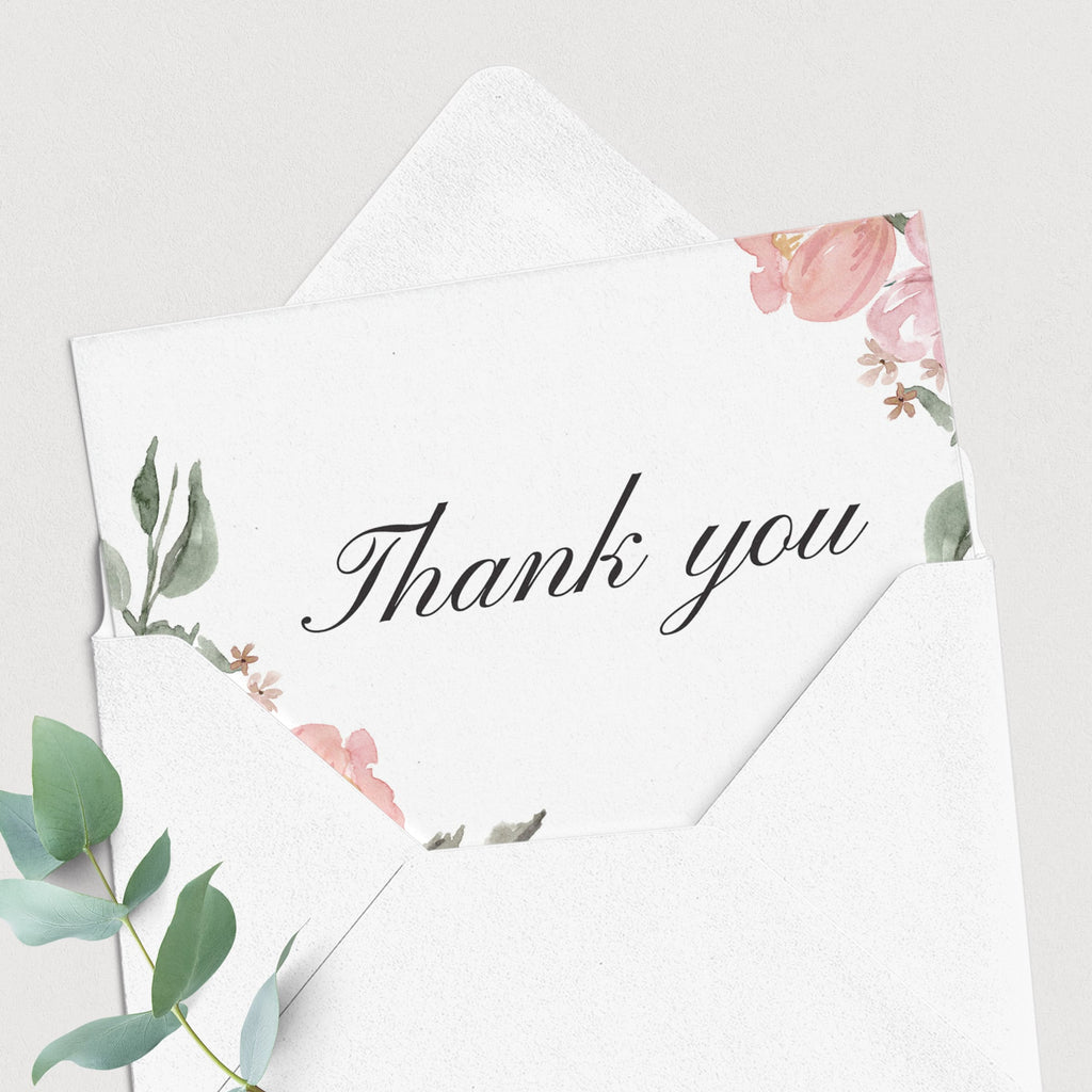 Instant download whimsical shower thank you card by LittleSizzle