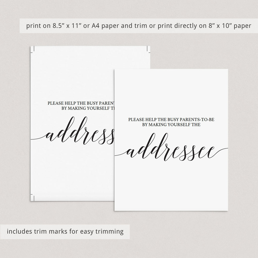 Make yourself the address sign template by LittleSizzle