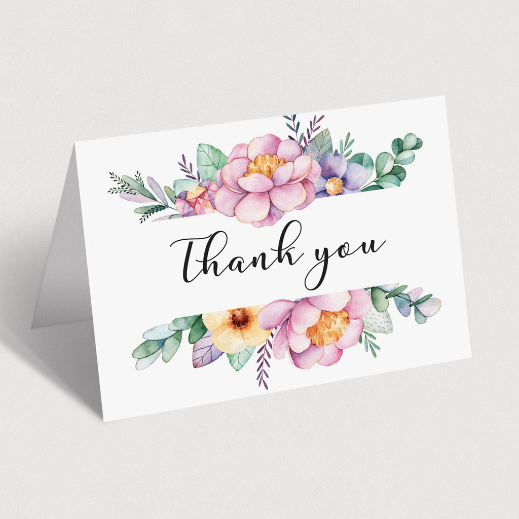 Printable floral thank you cards by LittleSizzle