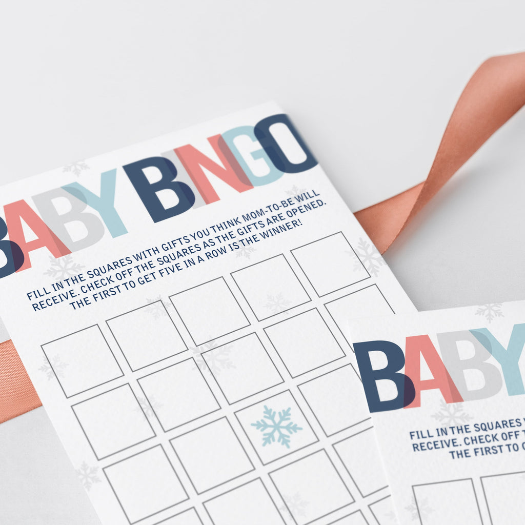 Prefilled baby shower bingo cards for boy shower by LittleSizzle