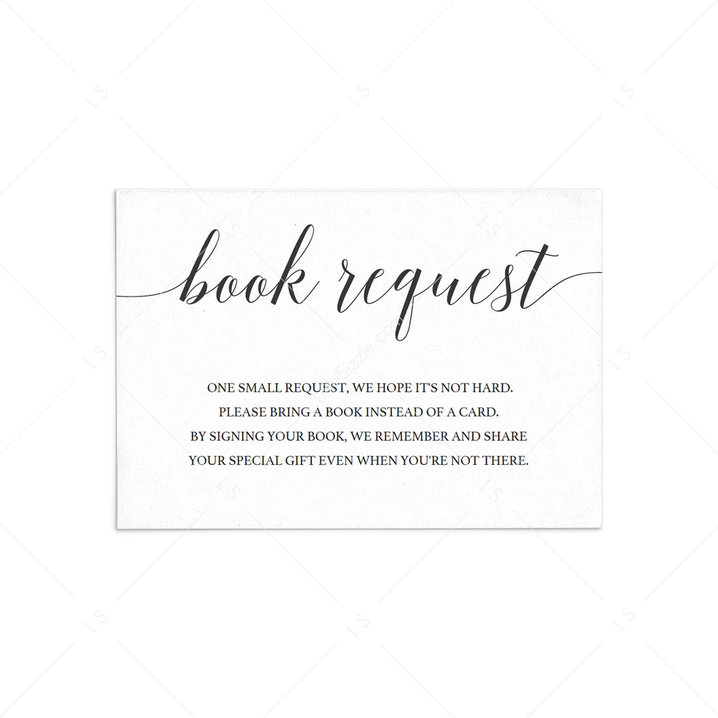 Simple baby book request card template by LittleSizzle