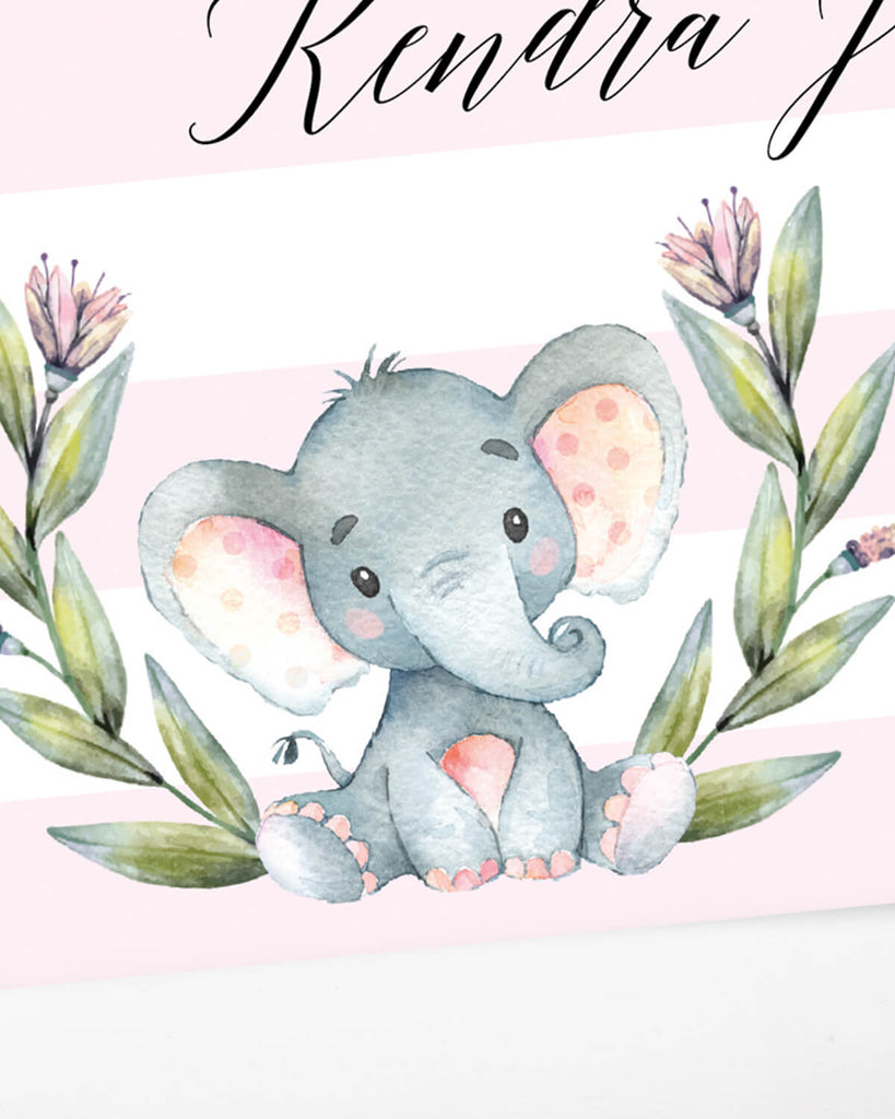 Girl baby shower elephant invitation template by LittleSizzle