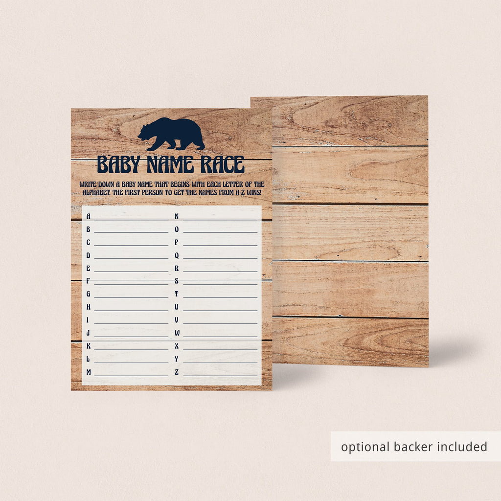 Little cub on baby shower game printable by LittleSizzle