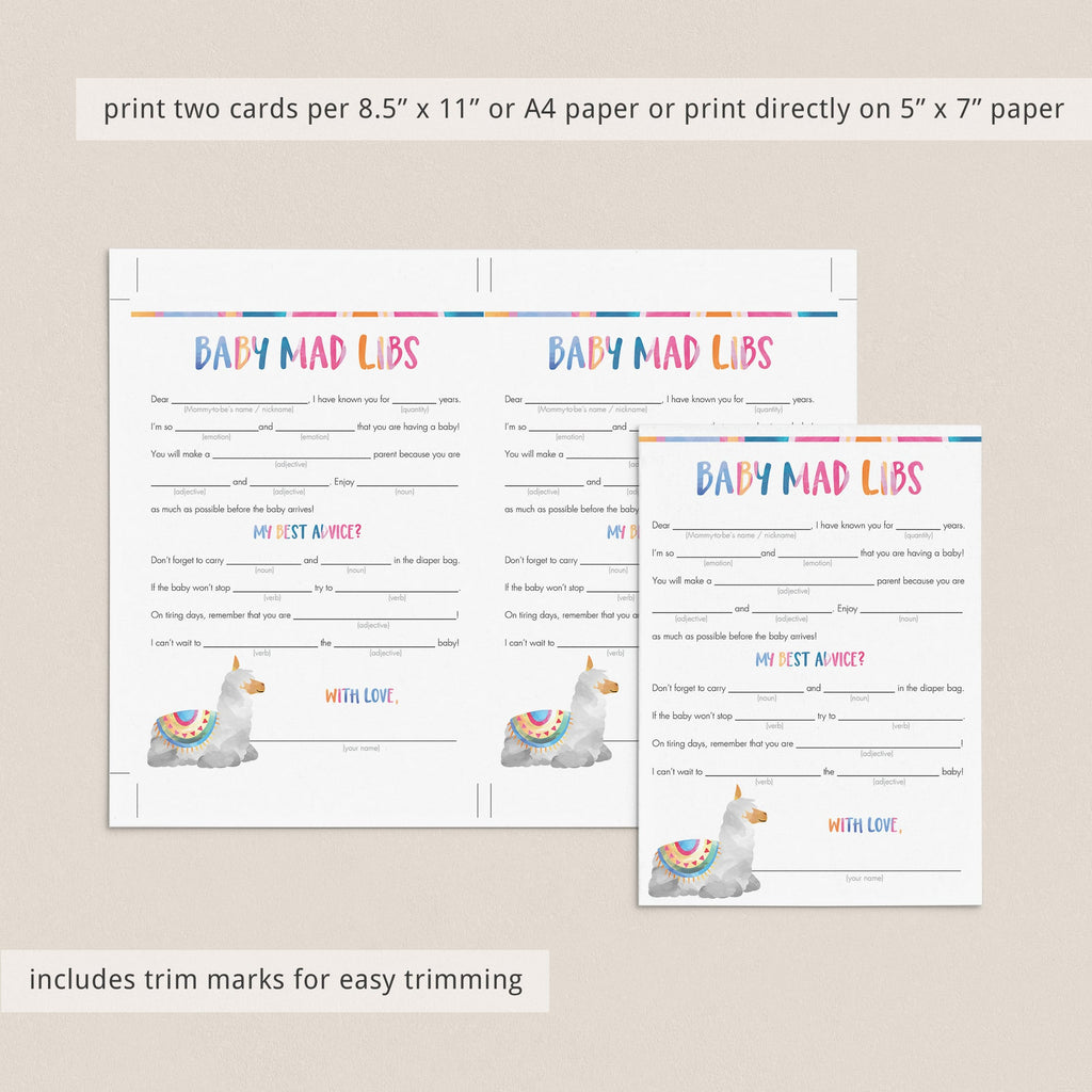 Funny fill in the blanks baby shower game by LittleSizzle