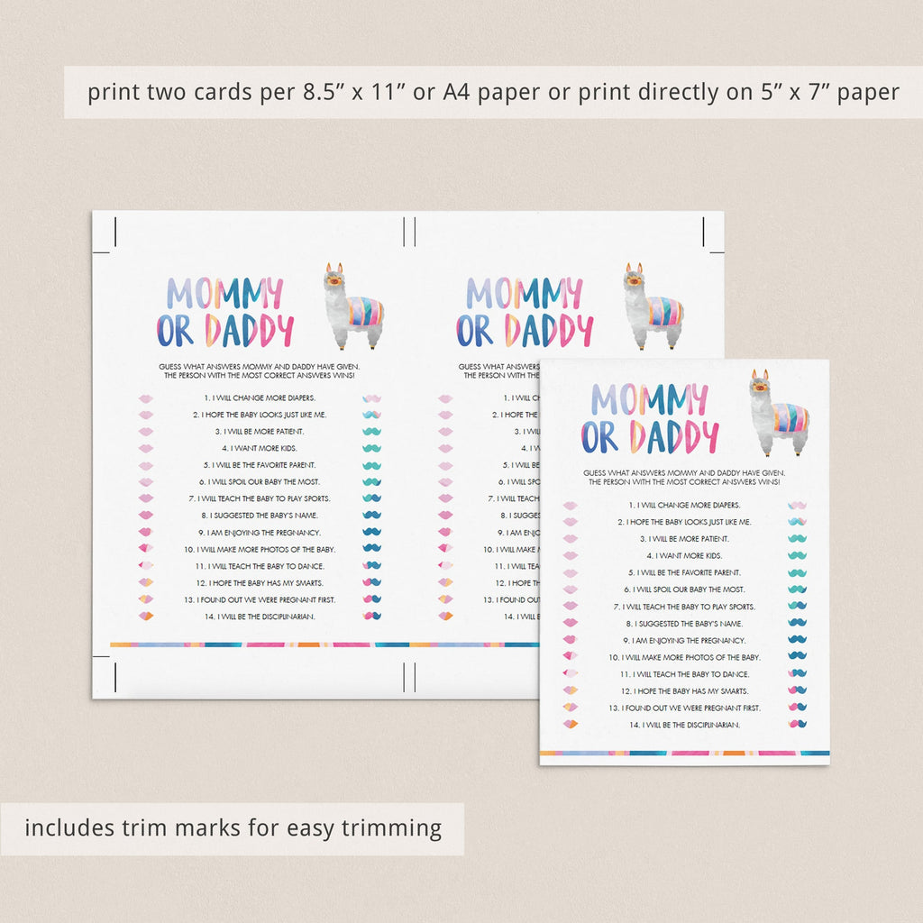 Guess who baby shower quiz printable by LittleSizzle