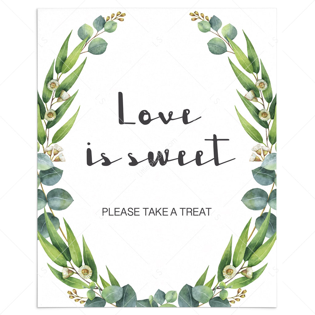 love is sweet please take a treat sign printable by LittleSizzle