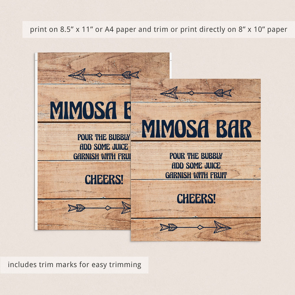 Instant download mimosa bar sign wood background by LittleSizzle